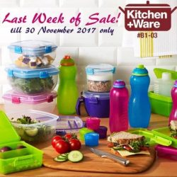 [Kitchen + Ware] Absolute last week of Sistema sale at Kitchen+Ware Waterway Point B1-03!