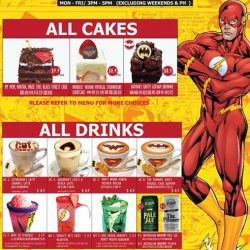 [DC Comics Super Heroes Cafe] Cause the school holidays are here and it means time to feast your tummies happy and enjoy the well-deserved