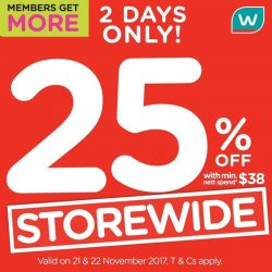 [Watsons Singapore] Enjoy STOREWIDE 25% OFF with min.
