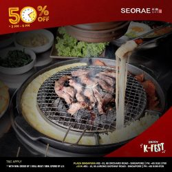 [SEORAE] Daily 50% off (minimum order of 2 ala carte grill meat or min spend of $35) From 2pm to 5pm.