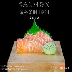 [The Sushi Bar Dining] We're still open for lunch until 3pm at Far East Plaza.