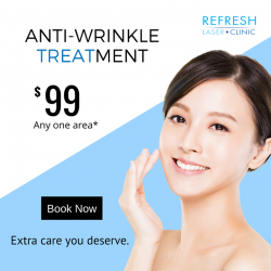 [REFRESH LASER CLINIC] Put your best face forward this festive season with Anti-Wrinkle (Botulinum Toxin) treatment!