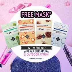 [Etude House Singapore] Redeem your FREE Mask at Be My Universe store @ Plaza Singapura, L1 Outdoor Atrium!
