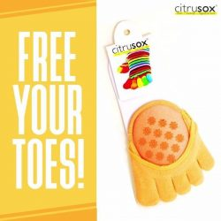 [Citrusox] Free your toes and cushion the feet discreetly!