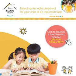 [The Little Skool-House] 10 days more to sign up for your free trial at our centres!