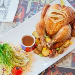 [DC Comics Super Heroes Cafe] Straight from the league, the Superman Whole Roasted Spice Spring Chicken ($38.