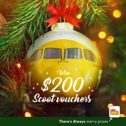 [7-Eleven Singapore] Spend & Win $200 FlyScoot vouchers this Christmas!