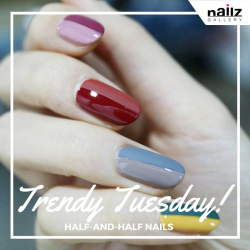 [NAILZ GALLERY] Gorgeous Nail Trends to Try in 2017😁Half-And-Half Nails These nails are also incredibly easy to achieve, with