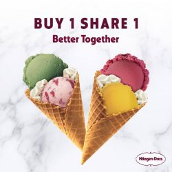 [Haagen-Dazs] Have your loved ones enjoy Double Scoop Ice Creams with our Buy 1 Share 1 promotion!