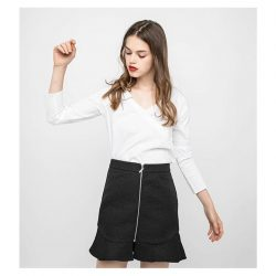 [OSMOSE Singapore] Wrap Button Blouse | Deconstructed tailoring and asymmetrical hems offers a more innovative take on a classic.