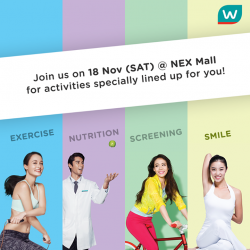 [Watsons Singapore] Be HERE FOR HEALTH at NEX !