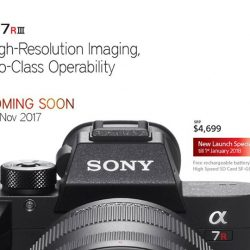 [Sony Singapore] For those who have been waiting for it: SonyAlpha A7RIII will be launching in Singapore on 25 November 2017!