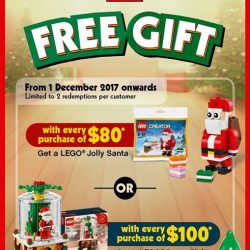 [Bricks World (LEGO Exclusive)] December GWP - LEGO Snow Globe or LEGO Jolly SantaFrom 1 December onwards:1.