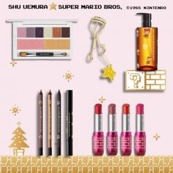 [Isetan] dive into beauty adventure with shu uemura this magical Christmas season with our Mario holiday collection!