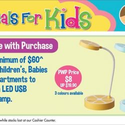 [BHG Singapore] Enjoy more fun deals for kids this holiday with 20% off regular items and receive a cute fan or buy