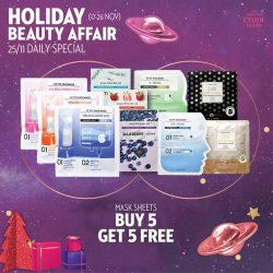 [Etude House Singapore] Be My Universe Holiday Beauty Affair 🔮- Daily Special Day 9 -Purchase any 5 mask sheets and get 5 more free!