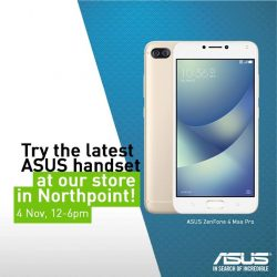 [StarHub] Charge up with a FREE Red Bull drink when you try out the ASUS ZenFone 4 Max Pro at our