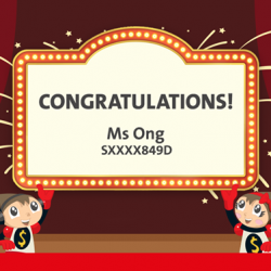 [OCBC ATM] Congratulations to Ms Ong, the winner of a kids' bedroom makeover!