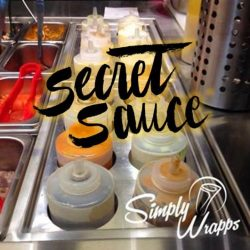 [Simply Wrapps] Our Secret SauceAt Simply Wrapps, our 18+ low-fat, gluten-free or vegetarian dressing options are our not-so-