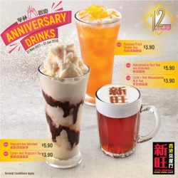 [XIN WANG HONGKONG CAFE] We're whipping up some fancy drinks to celebrate our 12th Anniversary!