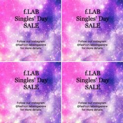 [FASHION LAB] Single's Day Sales & 11.