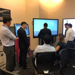 [Sharp] Last Friday, Our sales team did a live demonstration on how our Smart Office solutions product will improve the productivity