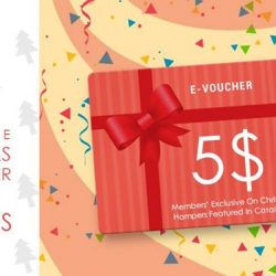[The Cocoa Trees] Redeem your $5 e-voucher to purchase any Christmas hamper featured in catalog this Season for limited time.