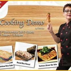 [Gain City] By popular demand, Chef Lisa will be heading over to the Gain City Megastore @ Sungei Kadut on 3rd December between