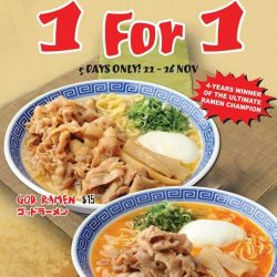 [Ramen Champion Singapore] Starting today at Ramen Champion Clarke Quay outlet!