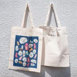 [Independent Market] wheniwasfour | 小时候工作屋's LAH, LOR, MEH, SIA Totebags are now all available for sale on our online store!