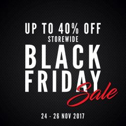 [Royal Sporting House Singapore] BLACK FRIDAY deals on your favourite footwear, apparel and accessories going at up to 40% off from 24 - 26 Nov!