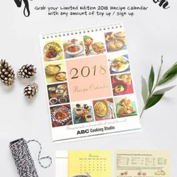 [ABC Cooking Studio] Year End Promotion📢 We are giving away 1,000 pieces of Recipe Calendar to members who sign up / top up (