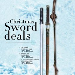 [Caesars] Christmas sword deals.