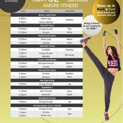 [Amore Fitness] Don't miss our 32nd birthday celebrations with fun and exciting workouts from 10-12 Nov!