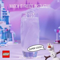 [LEGO] Make your own winter wonderland with this awesome Frozen activity – freeze water with just one touch!