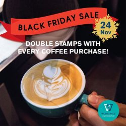 [Workspace Espresso & Bar] Get caffeinated with double stamps on Friday 24 November because Black Friday Sale is here!