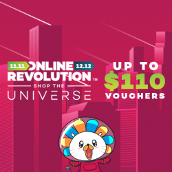 [Lazada Singapore] Vouchers of up to $110 to spend today at the Online Revolution!