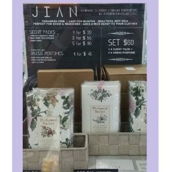 [Hako] JIAN perfume sachets are great for hanging in your cupboard, keeping your clothes smelling fresh for 2 whole months!