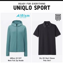 [Uniqlo Singapore] Integrating innovative technology including AIRism and DRY-EX into UNIQLO SPORT Collection, ideal for high-performance sports and exercise.