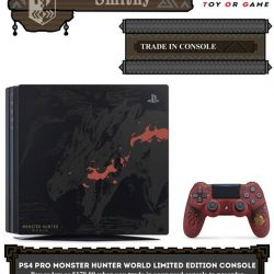 [TOG] PS4 PRO MONSTER HUNTER WORLD LIMITED EDITION CONSOLE TRADE IN PROMOTION: PRICE LISTS FOR TRADE IN: PS4 1006/1106 500GB