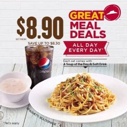 [Pizza Hut Singapore] Pizza, pasta, entrée – be spoilt for choices from just $8.
