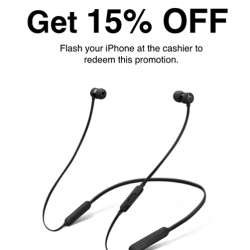 [Nübox] Limited time only, iPhone users get 15% OFF(UP $198) BeatsX!