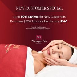 [SK-II Boutique Spa] Up to 30% savings for New Customers!