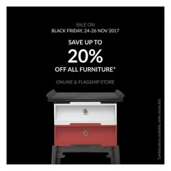 [SCENE SHANG] This Black Friday weekend, we are offering you up to 20% off all furniture, even on new and customised pieces.