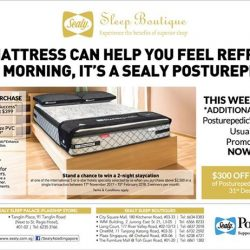 [Sealy Singapore] Feel refreshed every morning with a Sealy Posturepedic!