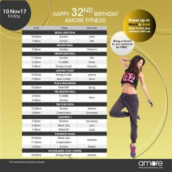 [Amore Fitness] We begin our 32nd anniversary celebrations today!