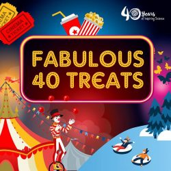 [Elements @ Play by Science Centre Singapore] There is no better way to celebrate ScienceCentreSG turning 40 than with our Fabulous40 Treats.