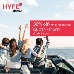 [Changi Recommends] Enjoy 50% OFF travel insurance with promo code 50OFF and get covered for as low as $3.