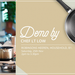 [SCANPAN] Join us this coming Saturday at Robinsons Heeren, Household, B1 for a Live Cooking Session with Chef LT Low!