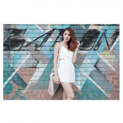 [MDSCollections] Online best seller, sale items | Scalloped Cutout Cami Romper in White